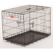 "Lucky Dog 2 Door Dog Training Crate 21""W x 24""H x 30""L, Black"