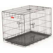 "Lucky Dog 2 Door Dog Training Crate 24""W x 27""H x 36""L, Black"