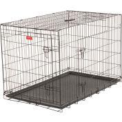 "Lucky Dog 2 Door Dog Training Crate 30""W x 33""H x 48""L, Black"