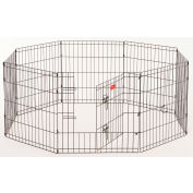 "Lucky Dog Heavy Duty Dog Exercise Pen With Stakes 24""W x 24""H, Black"