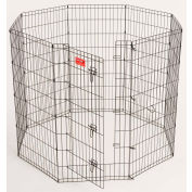 """Lucky Dog Heavy Duty Dog Exercise Pen With Stakes 24""""W x 48""""H, Black"""