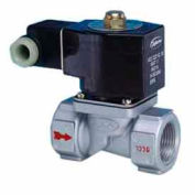 "1"" 2 Way Solenoid Valve For Fuel Gas And Other Gases 24V DC Injected Aluminium Body"