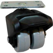 """Jacob Holtz X-CASTER 2"""" Display Caster 1-3/4"""" x 3"""" Top Plate Brake Poly on Poly Core"""