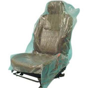 JohnDow Economy Plastic Seat Covers Roll, Green - 200 Covers/Roll - ESC-2-H