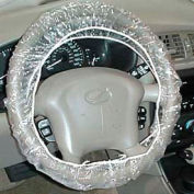 JohnDow Plastic Steering Wheel Covers, Clear - 100 Covers/Case - SWC-1