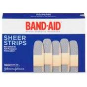 "Johnson & Johnson Band Aid Variety Pack, Waterproof, Hypoallergenic, 3/4"" , 100BX, Sheer"
