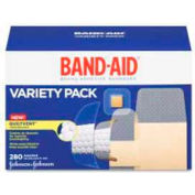 Johnson & Johnson Band Aid Variety Pack, Wet Flex/Refillable/Waterproof, 280BX, Sheer, WH