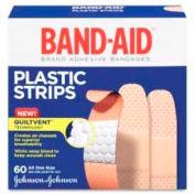 "Johnson & Johnson Plastic Bandages, Adhesive, 3/4""W, 60BX, Plastic, Tan"