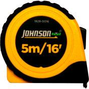 "Johnson Level, 5M/16' C 3/4"" Metric/Inch Power Tape, 1828-0016"