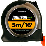 Johnson Level, 5M/16' Metric/Inch Big J Magnetic Power Tape, 1840-0016