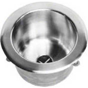 Just Mfg Gauge T-316 Stainless Steel Round Cup Sink, SS Sink, A37734