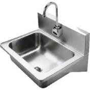 Handwash Sink, Wall Hung, 20 Ga., W/Sensor Faucet, Mixing Valve, Drain & P-Trap NSF, A544912S