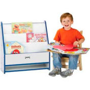 Jonti-Craft® Rainbow Accents® Toddler Pick-a-Book Stand - 1 Sided - Gray Top/Blue Edge