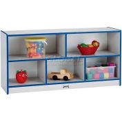 "Jonti-Craft® Toddler Mobile Single, 48""W x 15""D x 24-1/2""H, Gray Laminate, Red Edge"
