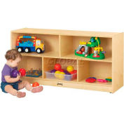 "THRIFTYKYDZ® Toddler Single Mobile Storage Unit, 48""W x 15""D x 24-1/2""H, Birch Plywood"