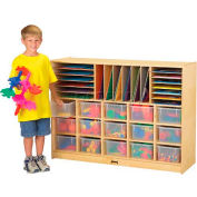 """Jonti-Craft® Sectional Mobile Cubbie Without Trays, 48""""W x 15""""D x 35-1/2""""H, Birch Plywood"""
