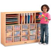 "Jonti-Craft® Sectional Mobile Cubbie No Trays,48""W x 15""D x 35-1/2""H, Maple Laminate"