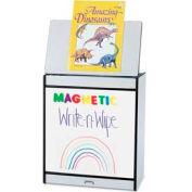 Jonti-Craft® Rainbow Accents Big Book Easel - Magnetic Write-n-Wipe - Gray Top/Yellow Edge