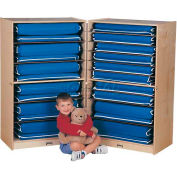"Jonti-Craft® Mobile Fold-N-Lock Mat Storage , 18""W x 58""D x 48""H, Birch Plywood"