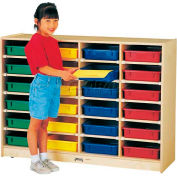 """THRIFTYKYDZ® 24 Tray Mobile Cubbie Without Paper-Trays, 48""""W x 15""""D x 35-1/2""""H, Birch Plywood"""