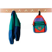 """Jonti-Craft® Wall Mount Coat Locker,48""""W x 1""""D x 4""""H, Birch Plywood"""