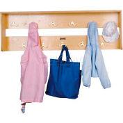 """Jonti-Craft® Wall Mount Coat Locker,48""""W x 6-1/2""""D x 16""""H, Birch Plywood"""