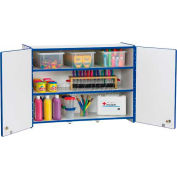 Jonti-Craft® RAINBOW ACCENTS®Lockable Wall Cabinet - Blackjnc