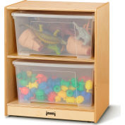 "Jonti-Craft® Single Jumbo Storage Unit with Clear Totes and Lids - 24.5""W x 18""D x 29.5""H"