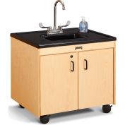 "Jonti-Craft® Clean Hands Helper Portable Sink - 26"" Counter - Plastic Sink"