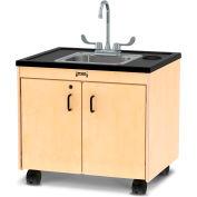 "Jonti-Craft® Clean Hands Helper Portable Sink - 26"" Counter - Stainless Steel Sink"