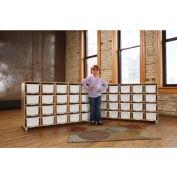 Jonti-Craft® TrueModern™ Twenty-Cubbie Shelf - with White Cubbie-Trays