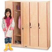 """Jonti-Craft® Kid Lockers w/Doors- 5 Wide , 48""""W x 15-1/2""""D x 50-1/2""""H, Birch Plywood"""
