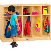 """Jonti-Craft® THRIFTYKYDZ® Toddler Coat Locker, 5 Wide, 48""""W x 15""""D x 35""""H, Birch Plywood"""