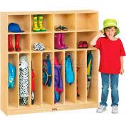 """Jonti-Craft® Neat-N-Trim Kid Lockers, 8 Wide, 48""""W x 15""""D x 50-1/2""""H, Birch Plywood"""