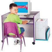 Jonti-Craft® Rainbow Accents® KYDZ CPU Booth - Gray Top/Teal Edge