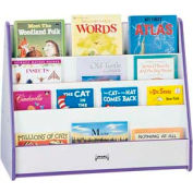 Jonti-Craft® Rainbow Accents® Mobile Pick-a-Book Stand - 2 Sided - Gray Top/Teal Edge