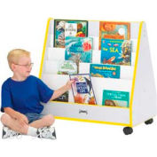 Jonti-Craft® Rainbow Accents® Mobile Pick-a-Book Stand - 1 Sided - Gray Top/Teal Edge