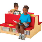 Jonti-Craft® Read-a-Round - Couch - Red