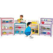 Jonti-Craft® Rainbow Accents® Toddler Kitchen Set - 4 Piece Set - Gray Top/Purple Edge