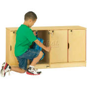 """THRIFTYKYDZ® Stacking Lockable Lockers, Single Stack, 48-1/2""""W x 15""""D x 23-1/2""""H, Birch Plywood"""