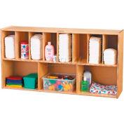 "Jonti-Craft® Wall Mounted Storage Diaper Organizer, 48""W x 12""D x 25""H, Birch Plywood"