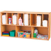 "Jonti-Craft® Wall Mounted Storage Diaper Organizer, 48""W x 12""D x 25""H, Birch Plywood"