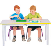 "Rainbow Accents® Multi-Purpose Large Rectangle Table, 24""W x 48""L x 12""H, Yellow"