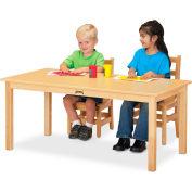 "Jonti-Craft® Multi-Purpose Large Rectangle Table, 24""W x 48""L x 14""H, White"