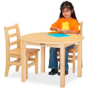 "Jonti-Craft® Multi-Purpose Round Table - 20"" High - Maple"