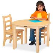 "Jonti-Craft® Multi-Purpose Round Table - 22"" High - Maple"