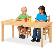 "Jonti-Craft® Multi-Purpose Large Rectangle Table, 24""W x 48""L x 12""H, Maple"