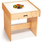 "Jonti-Craft® Wooden LED Light Box Table with Acrylic Top - 20.5"" x 21""D x 21""H"