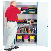 Jonti-Craft® RAINBOW ACCENTS®Deluxe Classroom Closet Cabinet - Greenjnc