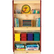 """Jonti-Craft 5950TK Two-Door Classroom Closet - 36""""W x 24""""D x 72""""H, Birch, Unassembled"""